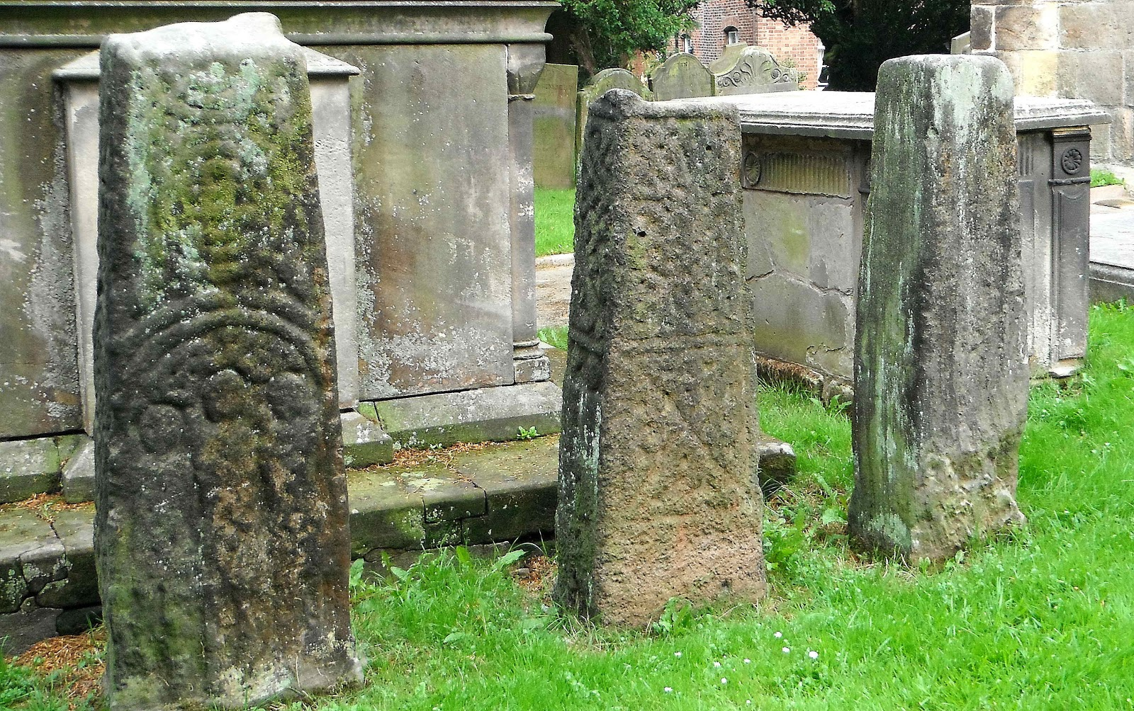 Checkley Churchyard - 'Three Bishops'