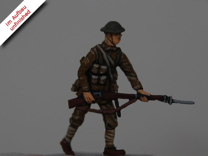 Erster Weltkrieg Diorama eines englischen Schützengrabens mit Tank und Soldaten, Diorama of a British Trench in WWI Bild 12