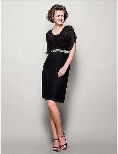 Vestido Negro Corto de Madrina