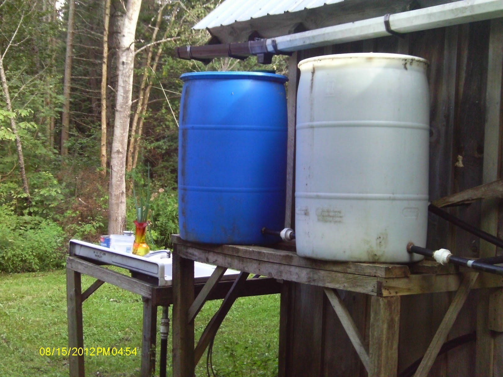 how to keep rain barrel water from getting stagnant