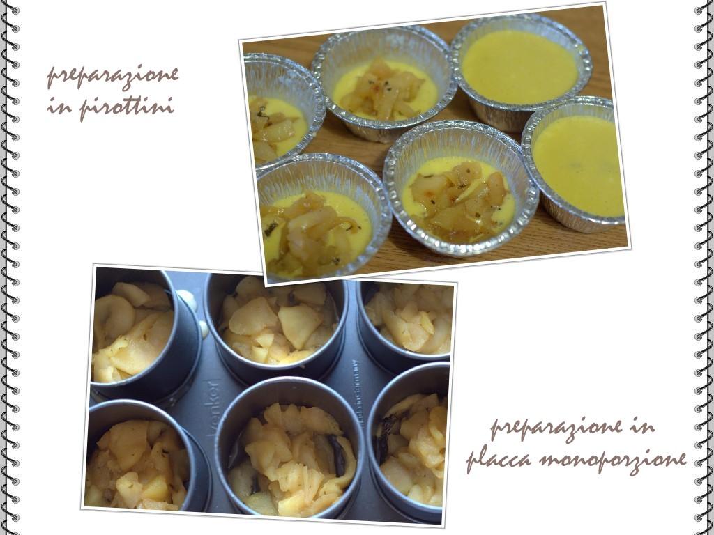 Minicakes di mele alla ricotta le 2 preparazioni