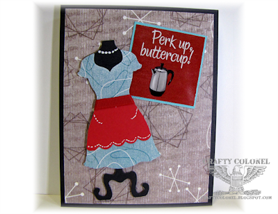 Crafty Colonel Donna Nuce for Club Scrap 50's Kitchen Blog Hop, General Card