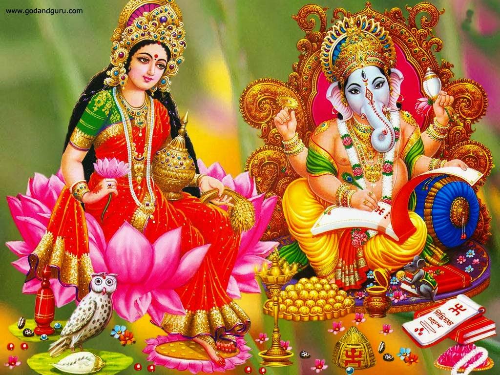 diwali wallpaper, lakshmi ganesh puja