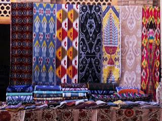 uzbek ikat, uzbekistan art craft tours