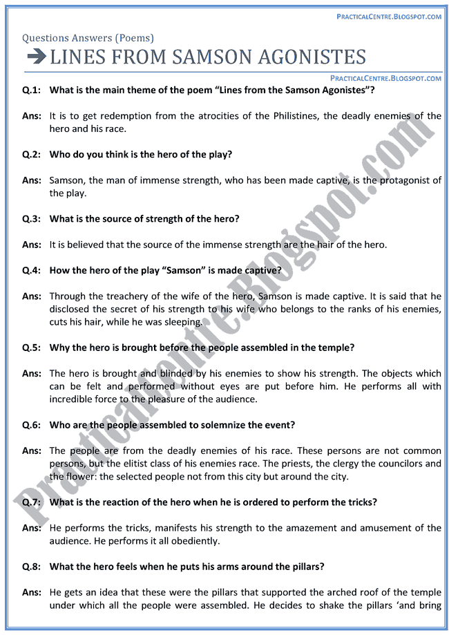 Lines-From-Samson-Agonistest-Poem-Questions-Answers-English-XII