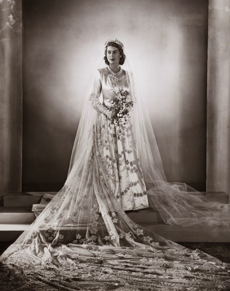 Princess Elizabeth Wedding Portrait 1947 Vintage Everyday