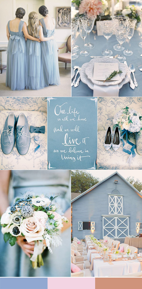 Calgary wedding blog top 10 wedding colors for spring 2016 for Best wedding colour themes