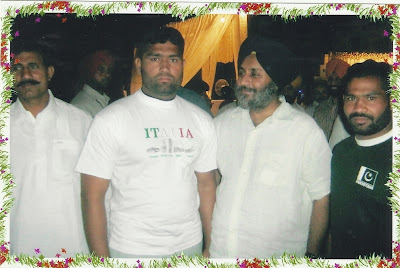 Ch Mansha Gujjar (Right) with Sardar Sukhbeer Singh Baadal