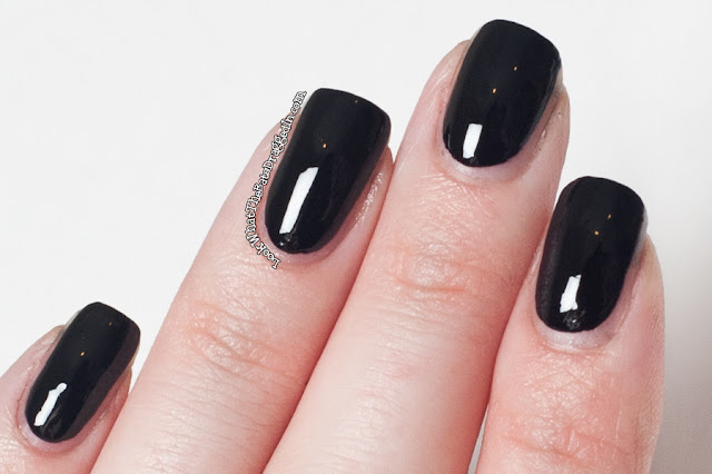 Ulta3 Black Satin nail polish swatch