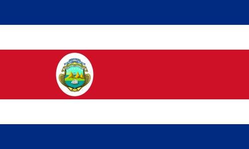 Hasil gambar untuk bendera kosta rika