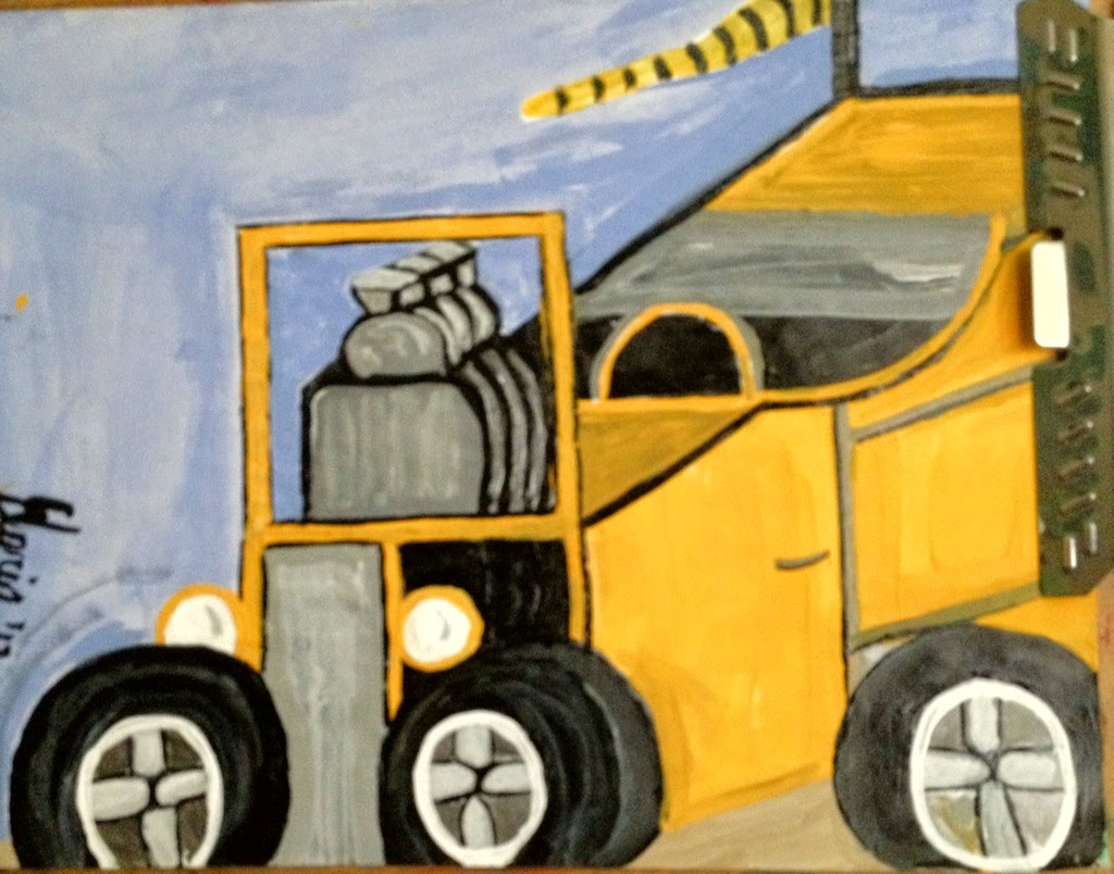 jalopy cartoon by Gloria Poole of Missouri