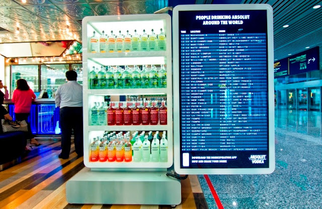 absolut, World First ABSOLUT Brand Store, KLIA, absolut hibiskus, absolut collection, drinkspiration app screen display