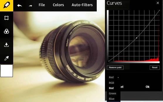Edit Foto Dengan Tool Curves Online Editor