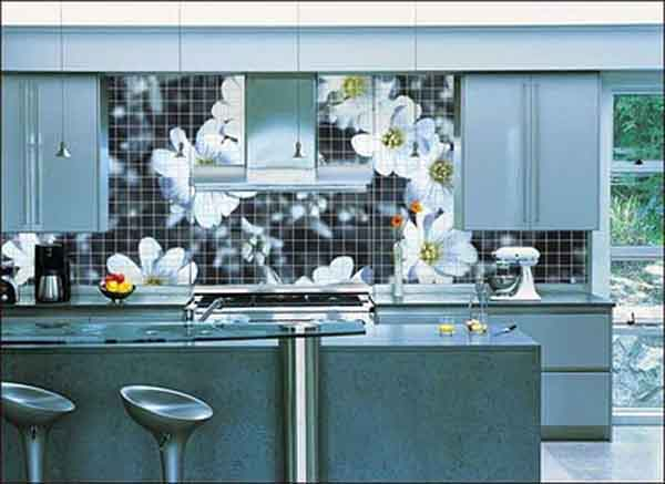 Modern backsplash ideas for kitchen the kitchen design Kitchen design of tiles
