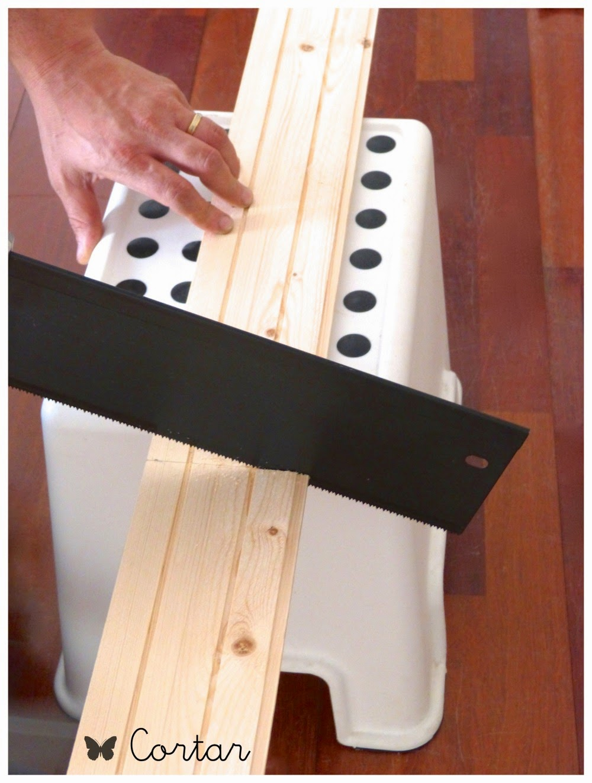 cortar tabla madera