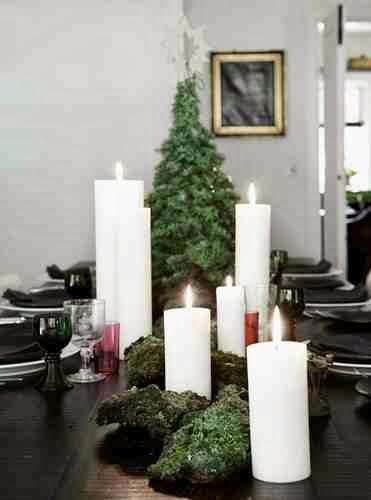 Świece jako element świątecznego stołu