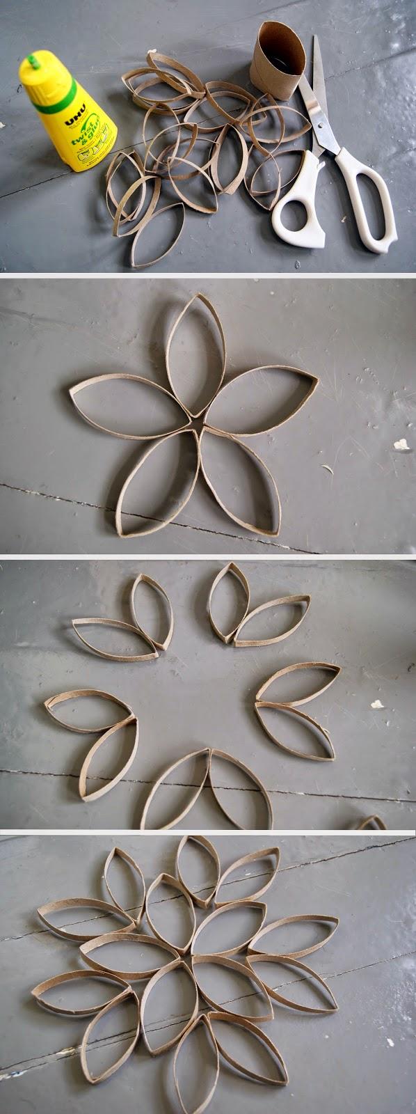 décoration en rouleau de papier de toilette, étapes