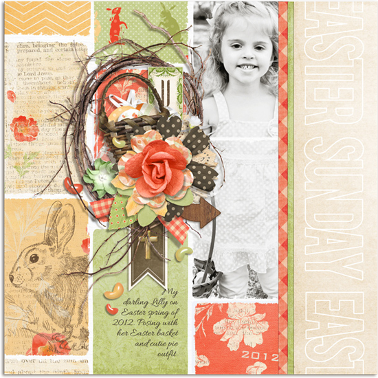Easter Digital Scrapbooking Layout