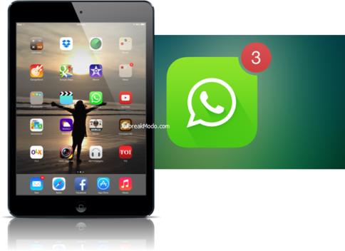 iPad menjalankan Aplikasi WhatsApp di iOS 7