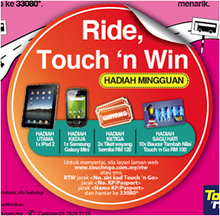 Peraduan Touch 'n Go 'Ride, Touch 'n Win'