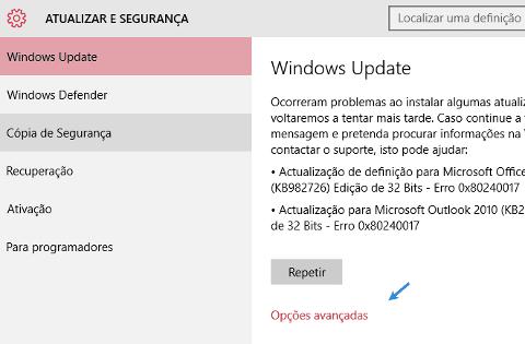 Como desactivar a Partilha de atualizações no Windows 10