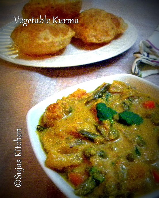 Vegetable Kurma with Coconut & Poppy seeds