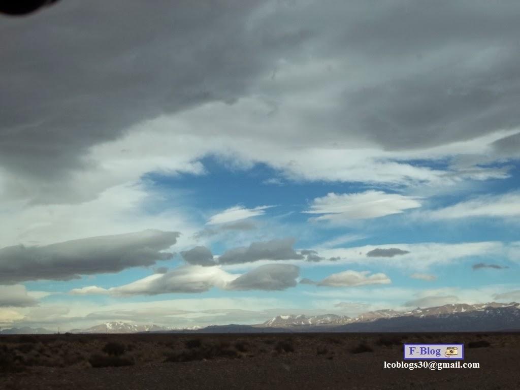 Hermoso cielo camino a Las Leñas