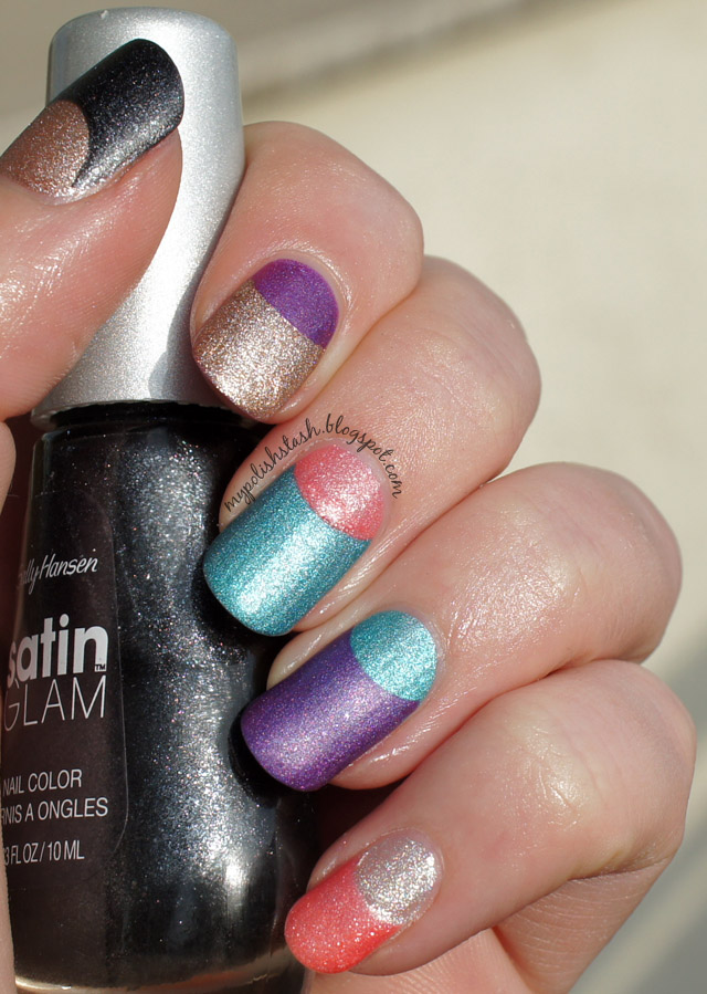 Sally Hansen Satin Glam collection swatches