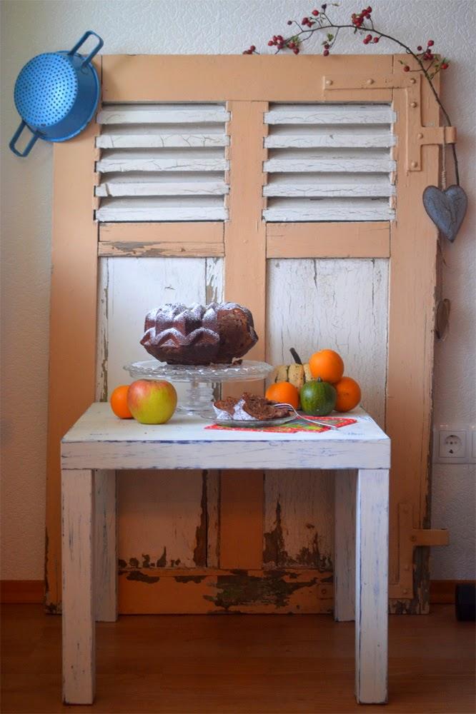 Ninas kleiner Food-Blog: Schoko-Apfel-Gugelhupf mit Walnüssen und Zimt