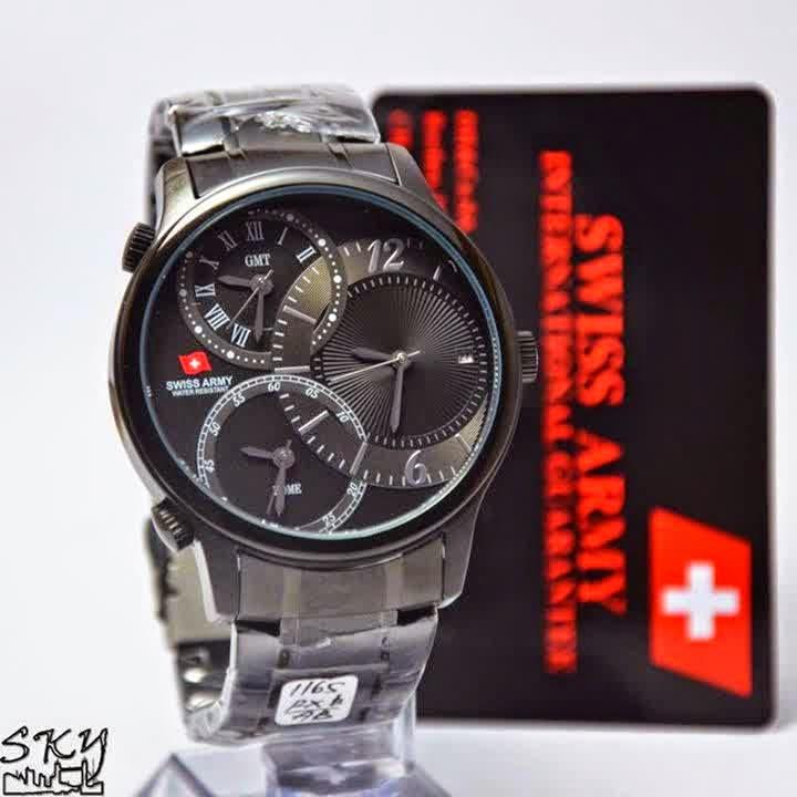 Swiss Army SA 1165 FB Triple Time hitam