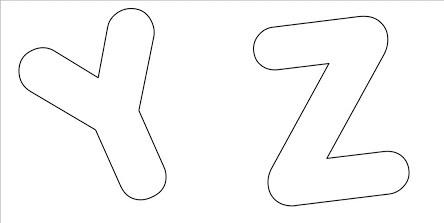 Blog Professor Zezinho : Moldes de Letras