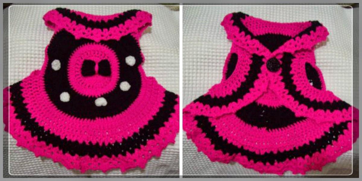 Minnie inspired crochet vest