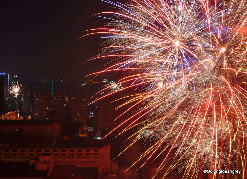 CNY fireworks, Shanghai
