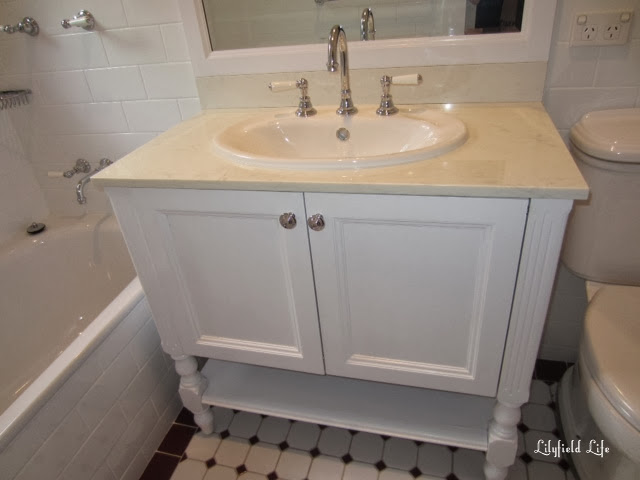 How to paint a bathroom vanity by Lilyfield Life