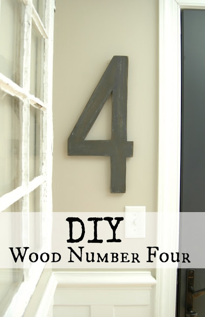 DIY Wood Number Four