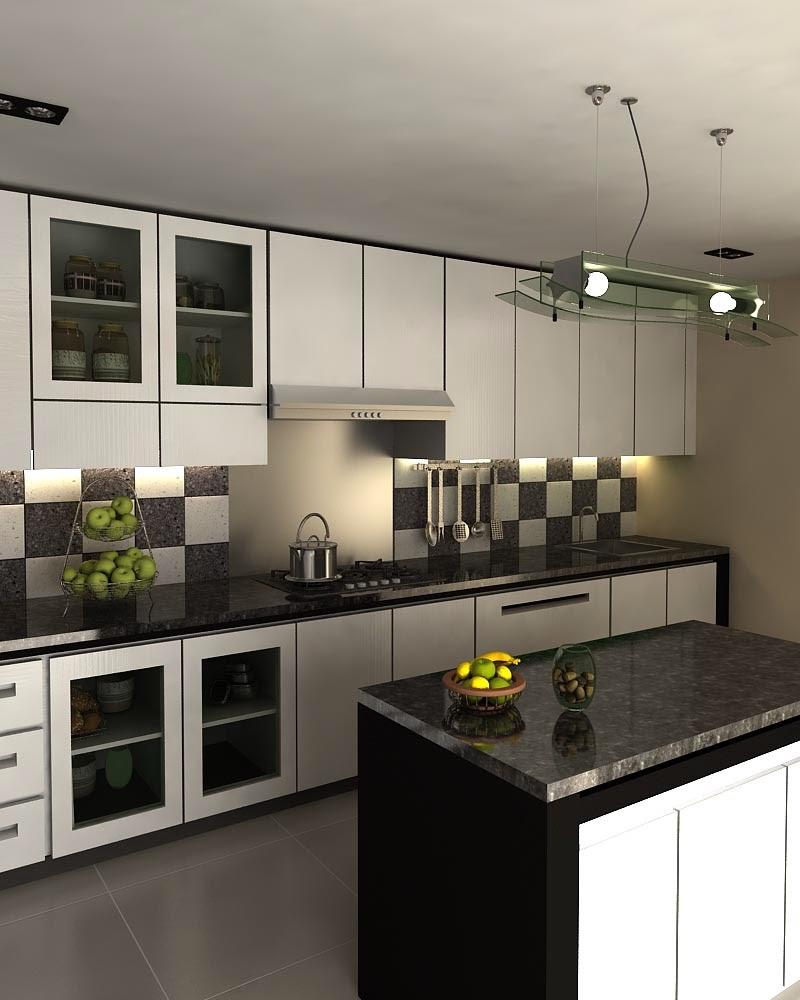 desain dapur minimalis yang dilengkapi dengan mini bar maka dapur ...