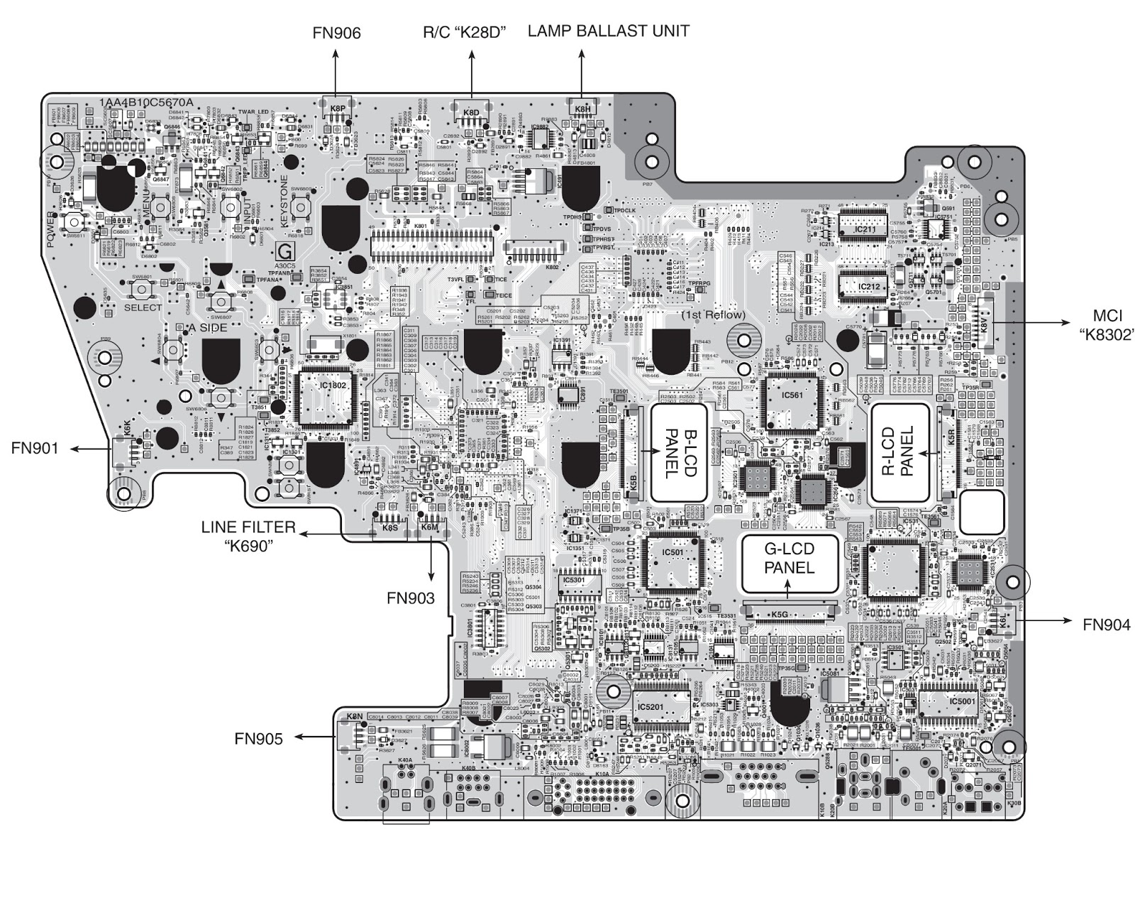 Sanyo Plc Xu87 Projector Power Supply Schematic Diagram Block Along With An Overview Of Architectures Side B