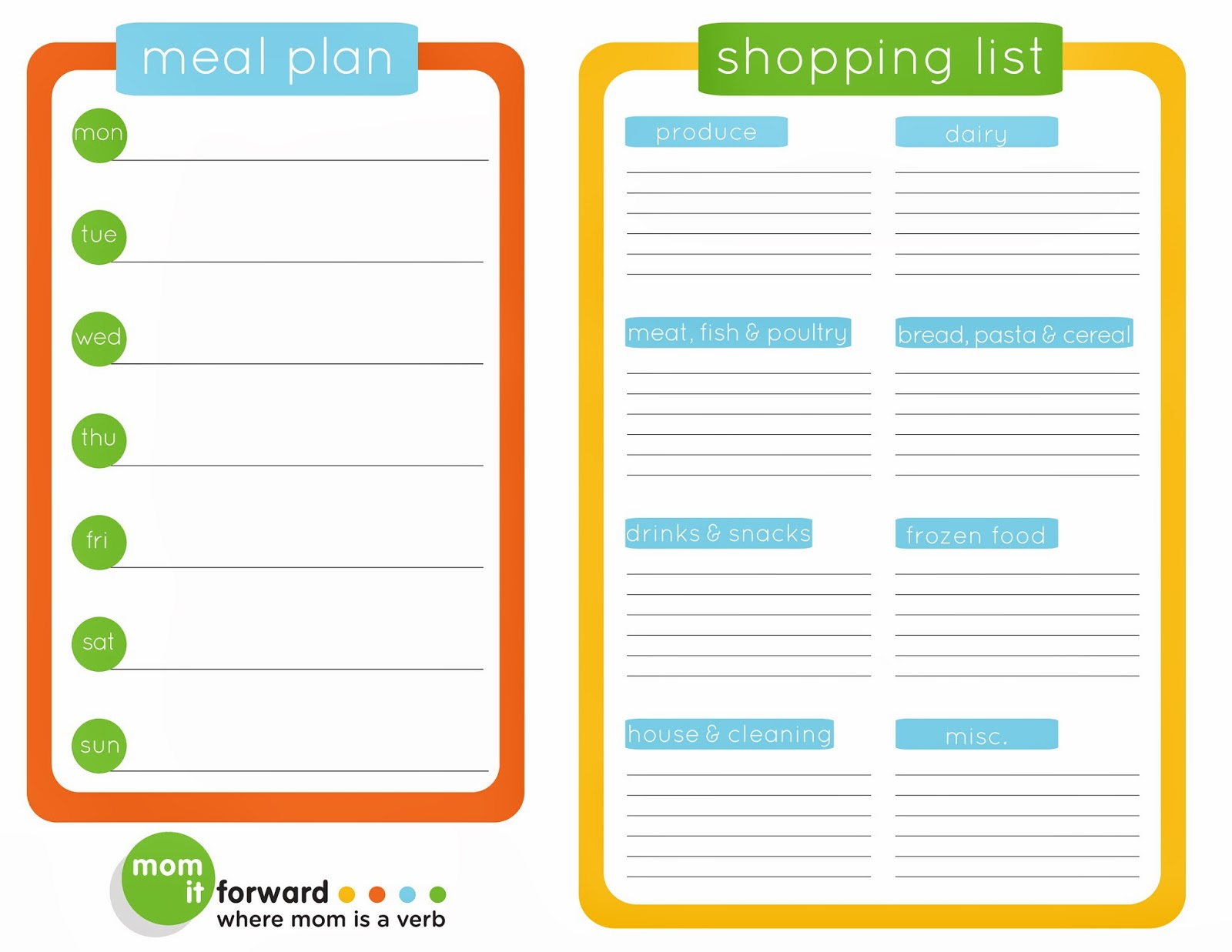 Never Forget an Item on Your Grocery List + Free Printables