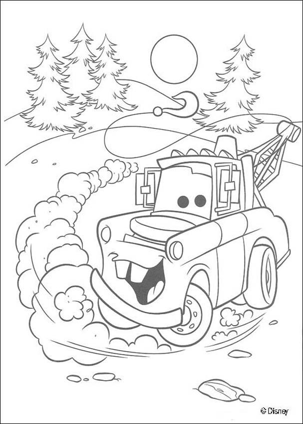 pixar movie cars coloring pages - photo#18