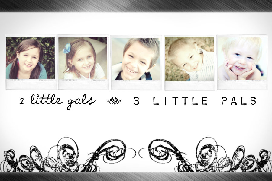 2 Little Gals and 3 Little Pals