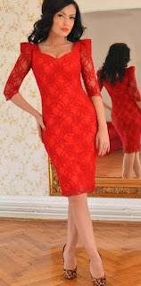 rochii andreea mantea rochie rosie de dantela