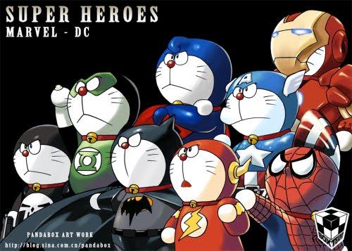 Funny Doraemon Super Heroes