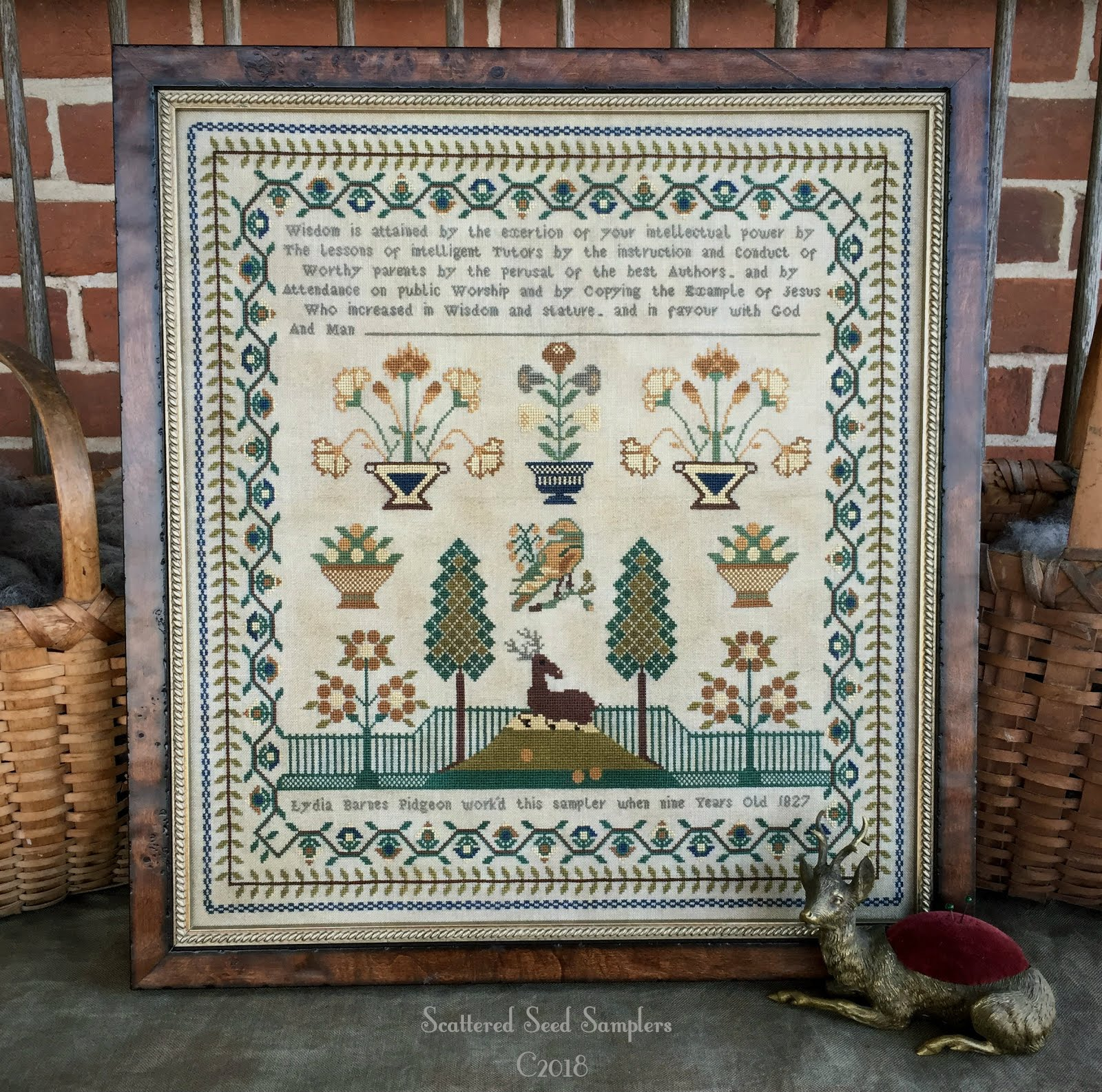 Newest Antique Reproduction Sampler