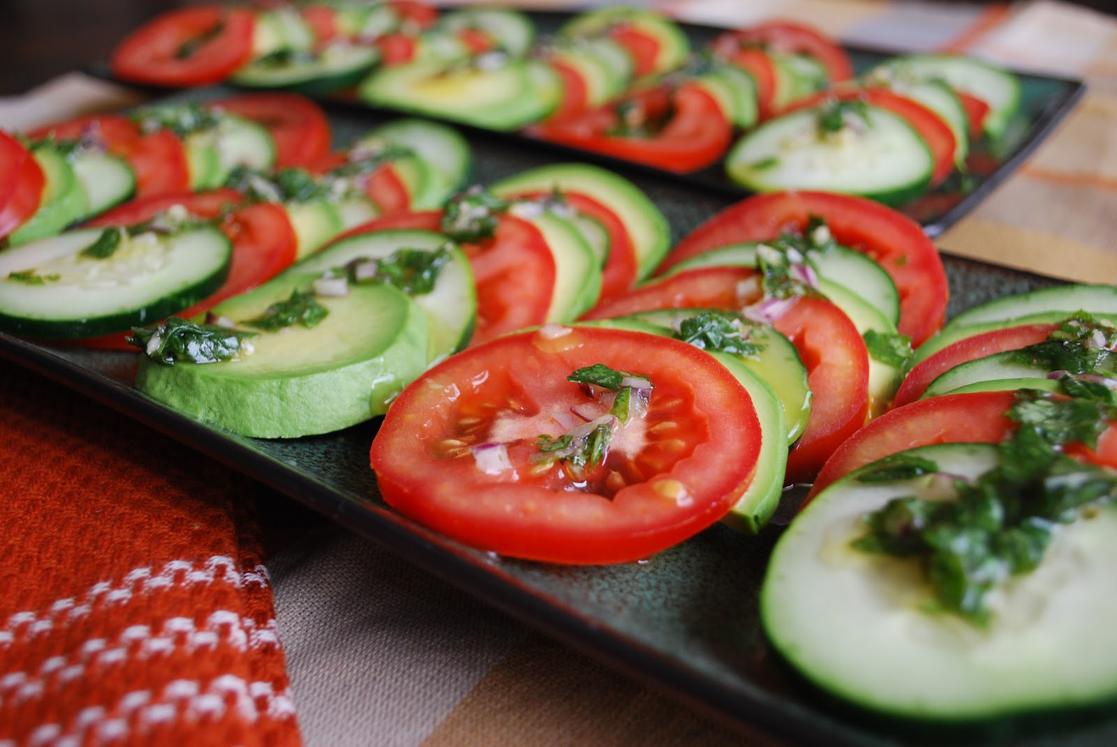 The Spinach Spot Raw Caprese Salad With Basil Infused Dressing