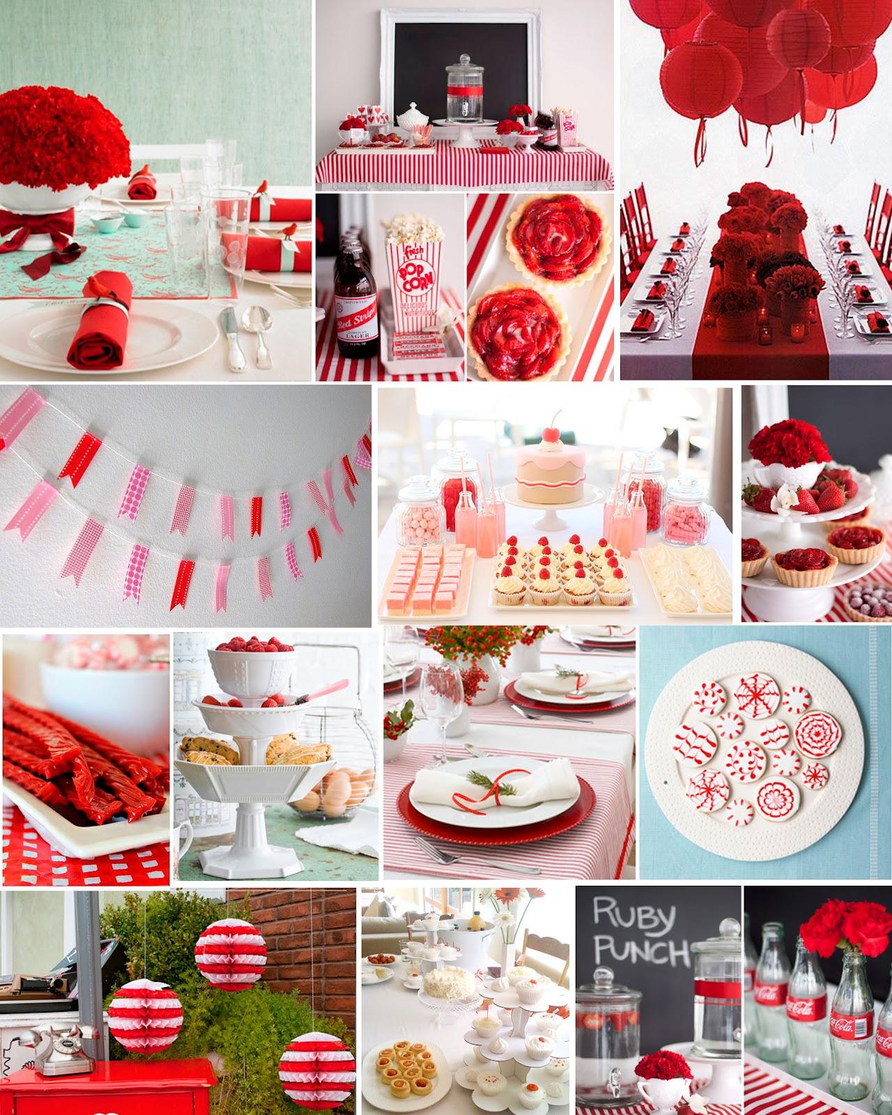 Laif vidanaif fiestas en rojo y blanco for Decoracion en rojo y blanco