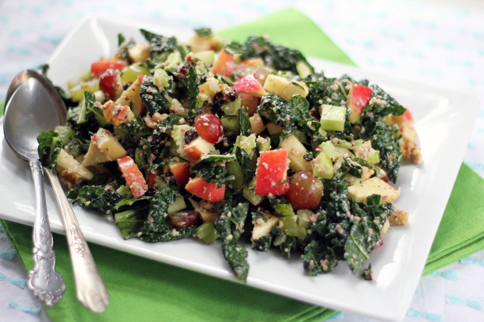 Blue Kale Road: Waldorf Kale Salad