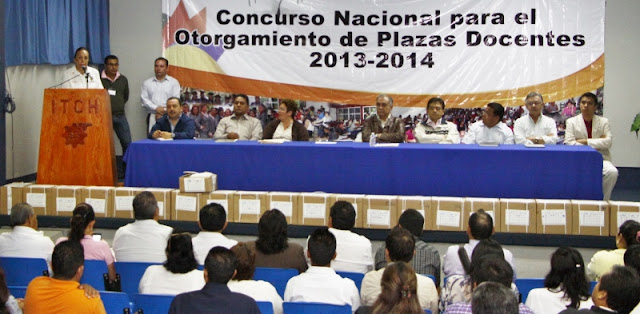 Examen para el otorgamiento de plazas a docentes en for Concurso plazas docentes