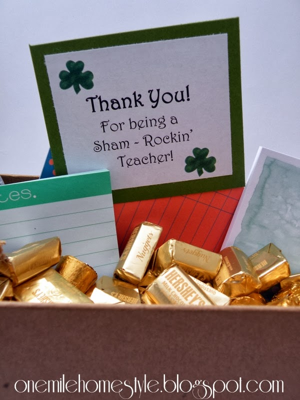 St Patrick's Day Teacher Gift