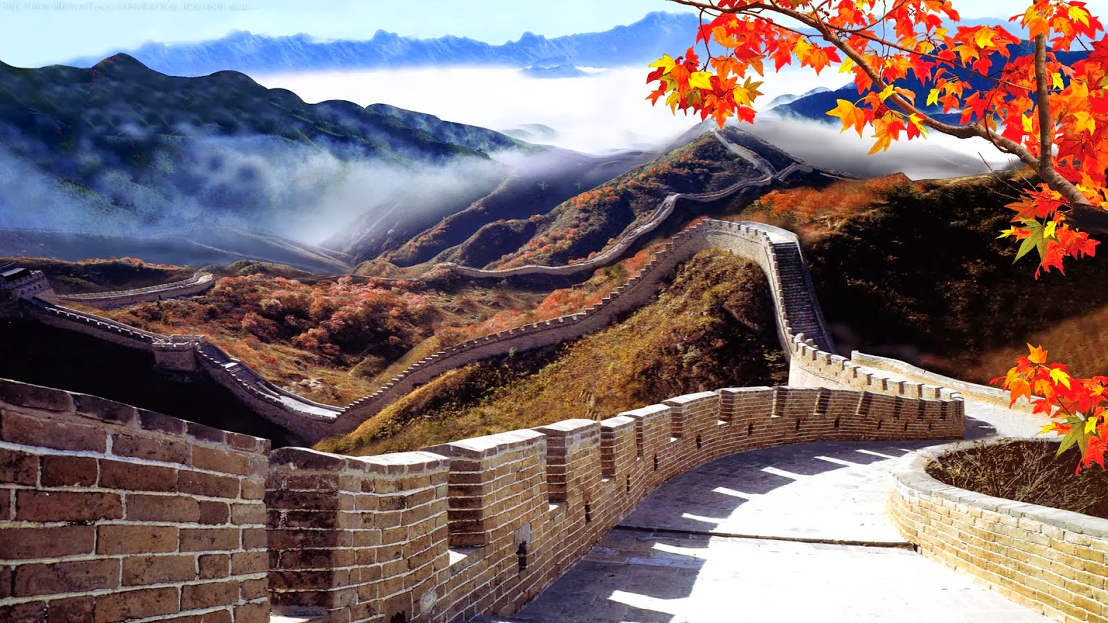 Beautiful wallpapers china wall wallpaper hd for Wall to wall wallpaper