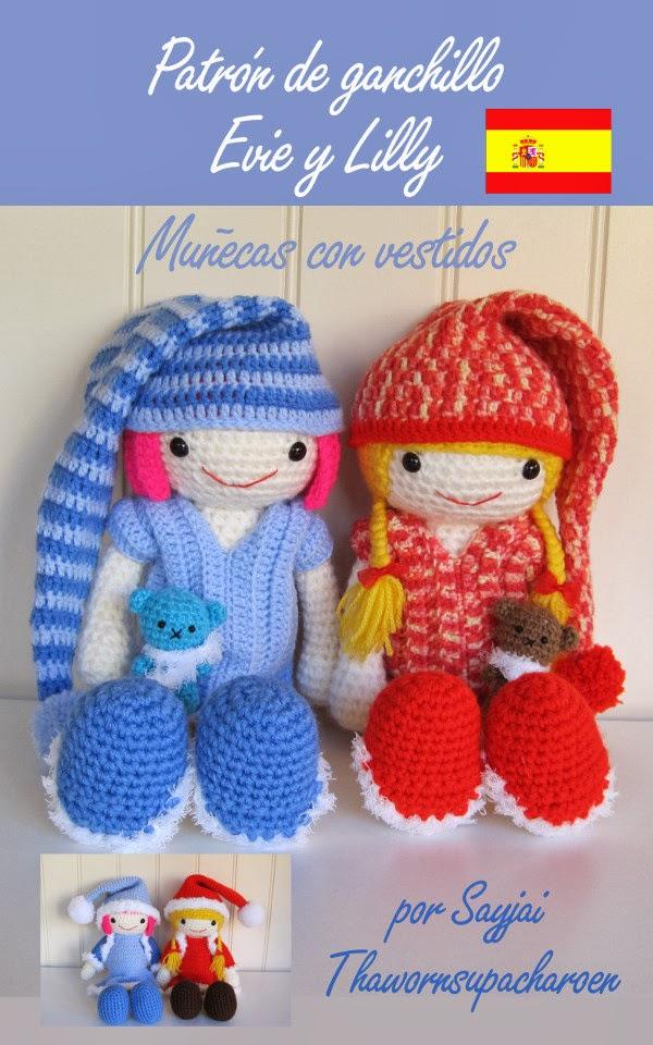 Crochet Patterns In Spanish : Lilly crochet pattern: in Spanish - Sayjai Amigurumi Crochet Patterns ...